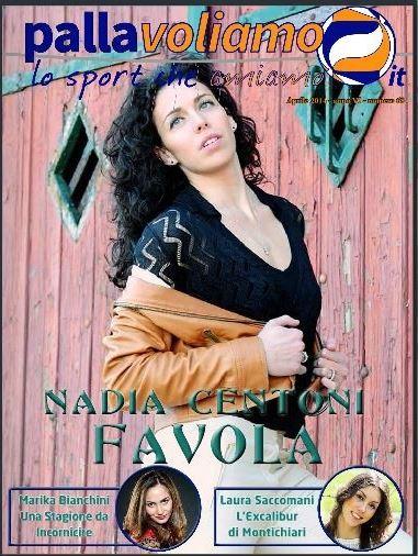 Cover Pallavoliamo Magazine: Nadia Centoni