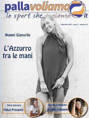 Cover Pallavoliamo Magazine: Noemi Signorile.