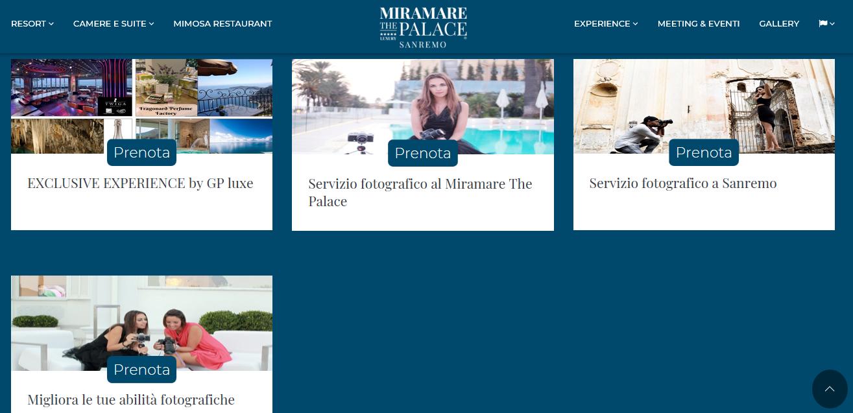 Miramare The Palace Sanremo: pacchetti fotografici